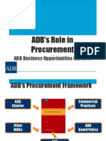 7 Plenary - ADB's Role in Procurement by CWee and JTaylor 13Mar2014 Rev