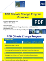 ADB Gen 1 Climate Change by PBhandari 10Mar2014 Original Version