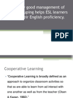 Discuss How Good Management of Learner Grouping Helps