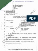 Klayman v Judicial Watch CACD 2:14-cv-01602 5