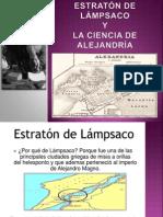 ESTRATÓN Y LA ESCUELA DE ALEJANDRIA