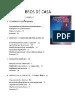 Titulos y Temas de LIBROS de CASA