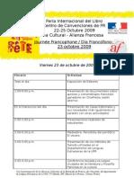 Programa Feria Alianza Francesa
