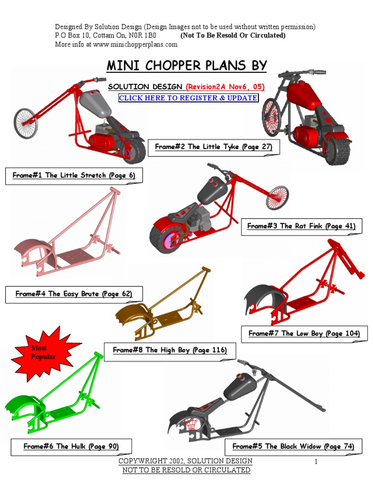 mini chopper plans wheeled vehicles land vehicles - Mini Chopper Frame