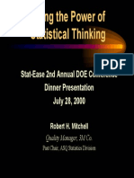 Using the Power of Statistical Thinking in DOE