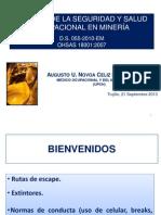 Sistema de Gestion de Sso - Norma Ohsas 18001 - Mineria
