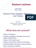 Klystron Testing Lecture