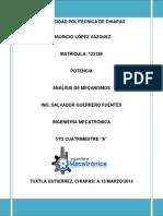 Potencia Del Mecanismo_mauricio Lopez Vazquez