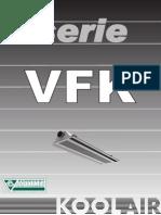 Vigas Frias de Aire Modelo VFK 600