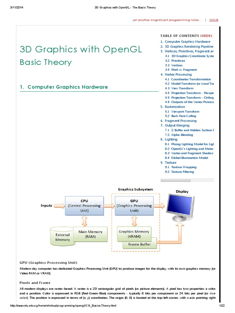 3d Graphics With Opengl The Basic Theory Shader Texture Mapping