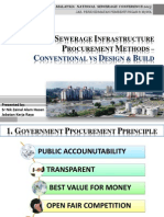 Sewerage Infrastructure Procurement Methods Conventional vs Design Build