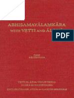 155456984 Gareth Sparham Abhisamayalamkara With Vrtti and Aloka Volume 1 First Abhisamaya