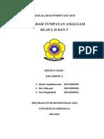 PREPARASI TUMPATAN AMALGAM KLAS 1,2,5.doc