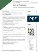 Inyeccion de Materiales Plasticos II _proceso de Inyeccion de Plasticos