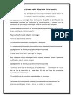 1.1 Estrategias Para Adquirir Tecnologia