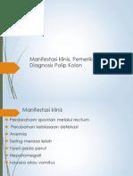 Manifestasi Klinis, Pemeriksaan Diagnosis Polip Kolon