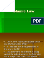 Islamic Law in the FC