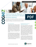 Transforming the Business with Outcome-Oriented IT Infrastructure Services Delivery
