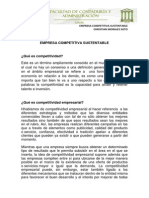 ENSAYO ECOLOGIA ORGANIZACIONAL. Empresa Competitiva Sustentable. Christian Morales Soto