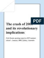 The Crash of 2008 and its revolutionary implications