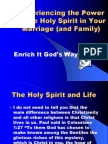 The Holy Spirit and Marriage