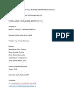 Marco Jurídico y Administrativo de un Proyecto de Inversión