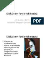 Evaluación funcional motora