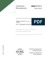 OIML R 111-1 2004 (E) Weights of Classes E1, E2, F1, F2, M1,