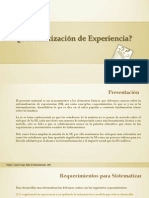 Agraz - Sistematizacin de Experiencia