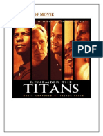 Analysis of the movie Remember the Titans