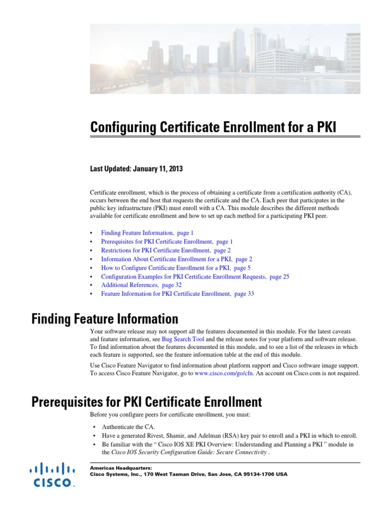 Sec Cert Enroll Pki Public Key Certificate Transport Layer Security