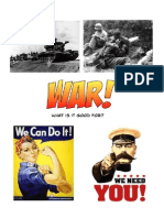 Student 'War' Booklet