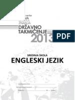 engleski jezik Takmicenje 2013