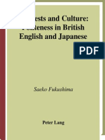 Politeness in British and Japanese