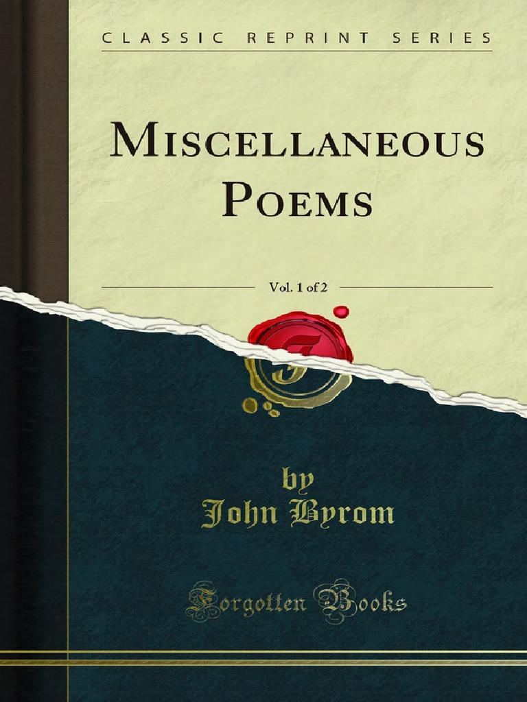 Miscellaneous Poems v1   Divinity   Jesus