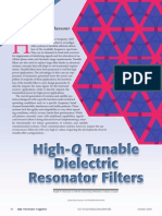 High-Q Tunable Dielectric Resonator Filter