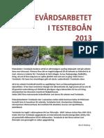FISKEVÅRDSARBETET  I TESTEBOÅN   2013
