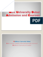 MDx University Dubai Courses