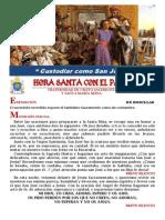 """Hora Santa con el Papa. """"Custodiar como san José"""""""