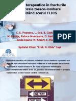 5. Indicații terapeutice în fracturile vertebrale toraco-lombare utilizând scorul tlics