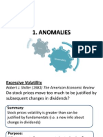 Anomalies- Behavioral Finance