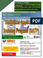 STATISTICAL APPLICATION TRAINING PROGRAM