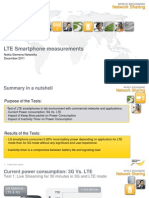 LTE Smartphone Measurements (Batary Consumption and Inactivity Timer)