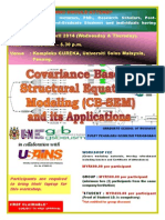 COVARIANCE BASED–STRUCTURAL EQUATIONS MODELLING (CB-SEM) AND ITS APPLICATION