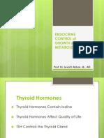 Endocrine Control of Growth and Metabolism_thyroid, Parathyroid