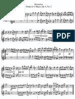 Sonata in C, Op 6 No 2 (2 Flutes)