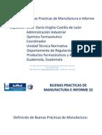 Buenas Practicas de Manufactura e Informe 32