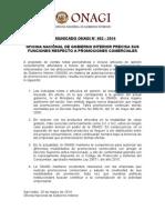 COMUNICADO OFICINA NACIONAL DE GOBIERNO INTERIOR PRECISA SUS FUNCIONES RESPECTO A PROMOCIONES COMERCIALES.doc