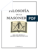 Filosofía de la Masonería (Mons. León Meurin)