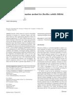 An Efficient Transformation Method for Bacillus Subtilis DB104-3